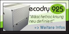 ecodry 625 Wäschetrockner Luftentfeuchter