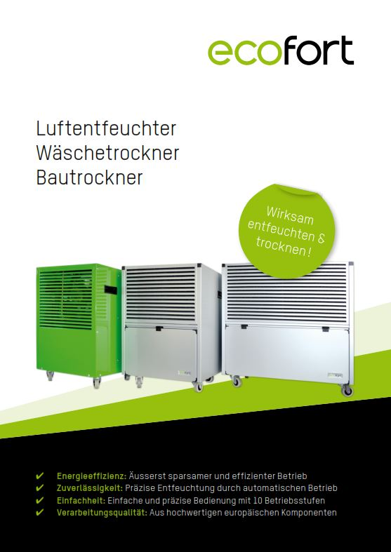 ecodry Luftentfeuchtungsgeräte Prospekt