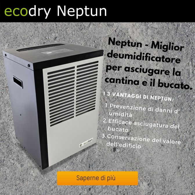 ecodry Neptun - deumidificatore e asciugatrice